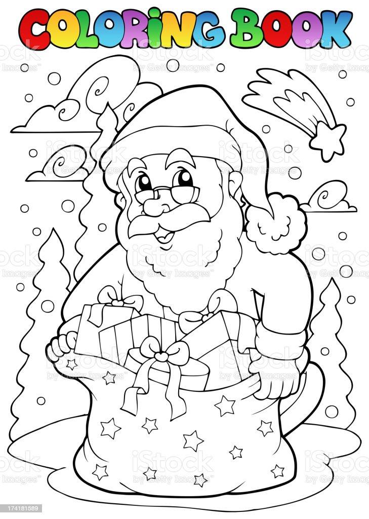 Ilustración de Libro Para Colorear Santa Claus Tema 3 y más banco de ...