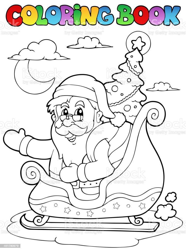 Ilustración de Libro Para Colorear Santa Claus Tema 8 y más banco de ...