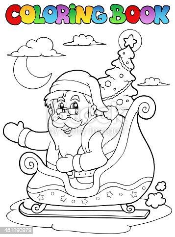 istock Santa loading gifts in his sleigh 618201298 istock Santa en un ...