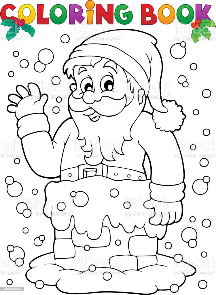 Ilustración de Libro Para Colorear El Tema De Papá Noel 9 y más ...
