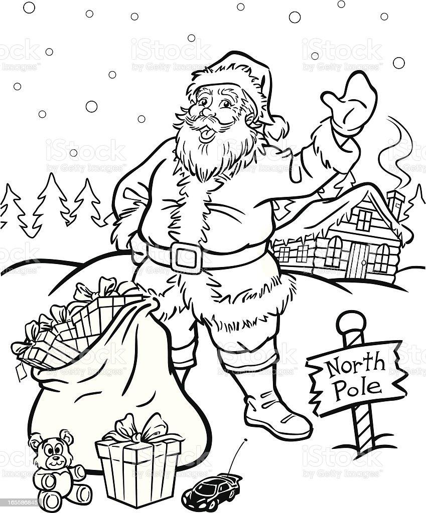 Lujo Papá Noel Para Colorear Libro Bandera - Dibujos Para Colorear ...