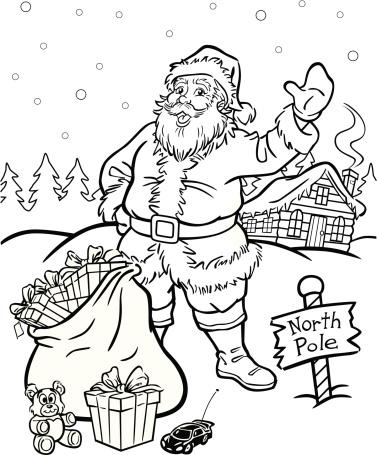Coloring Book Santa Claus