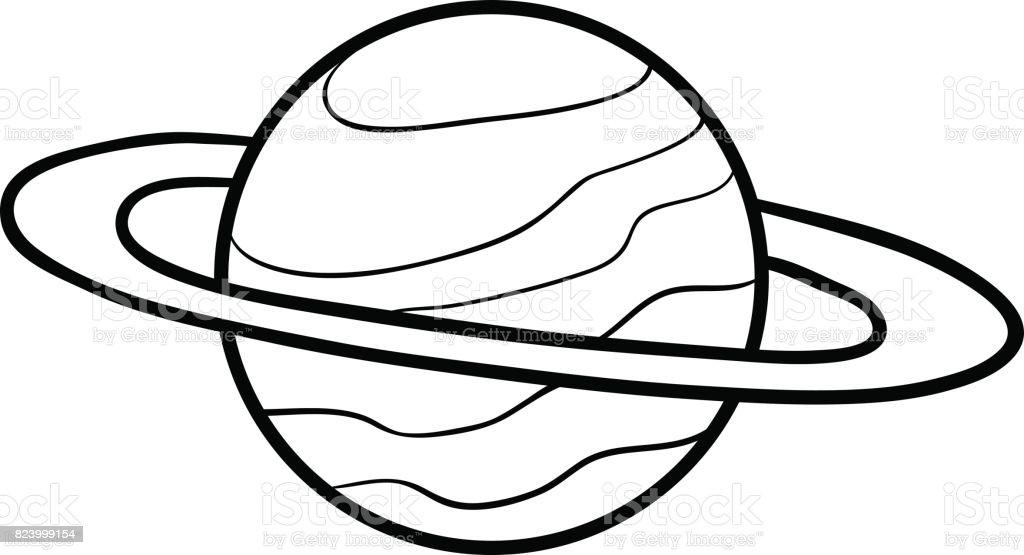 Boyama Kitabi Saturn Stok Vektor Sanati Anaokulu Nin Daha Fazla