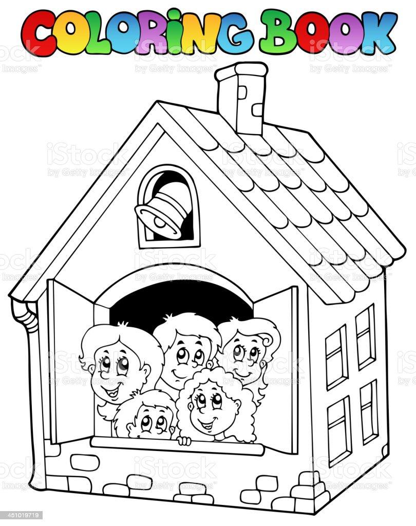 Ilustración de Libro Para Colorear Escuela Dibujos Animados 4 y más ...