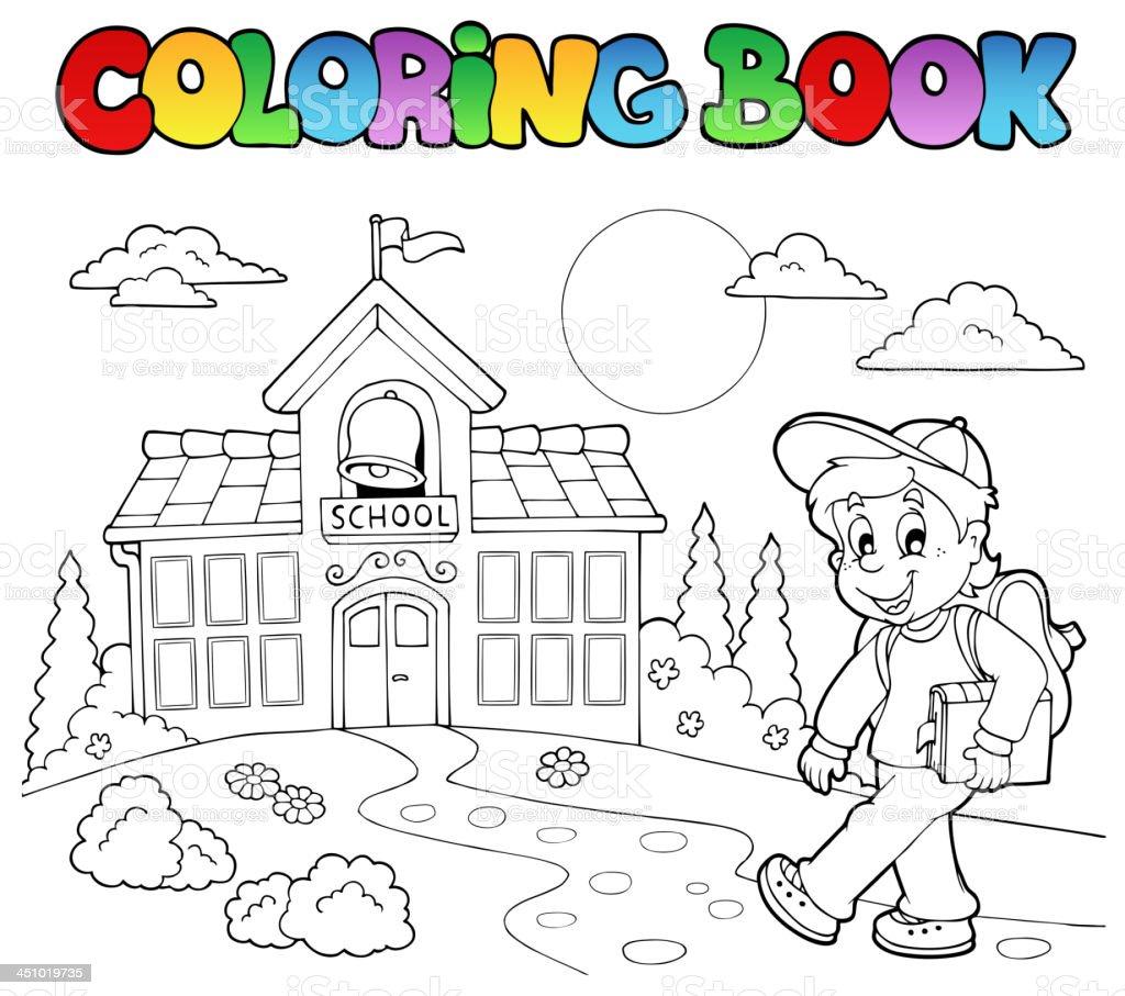 Ilustración de Libro Para Colorear Escuela Dibujos Animados 7 y más ...