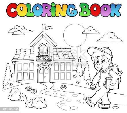 451019719istock Libro Para Colorear Escuela Dibujos Animados 4