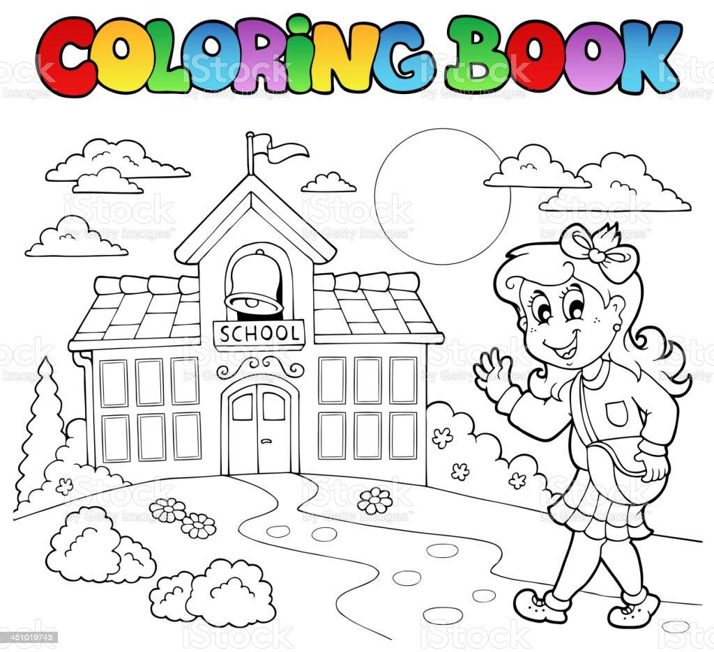 Ilustración de Libro Para Colorear Escuela Dibujos Animados 8 y más ...
