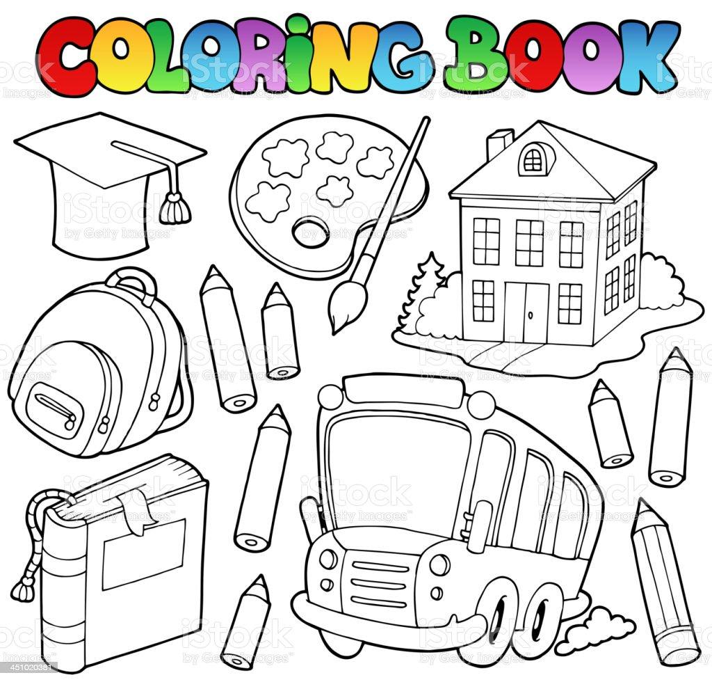 Coloring book school - Coloring Book School Cartoons 9 Royalty Free Stock Vector Art