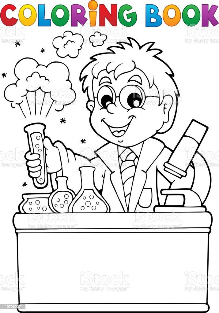 Ilustración De Libro Para Colorear Escuela Paciente 1 Y Más Vectores