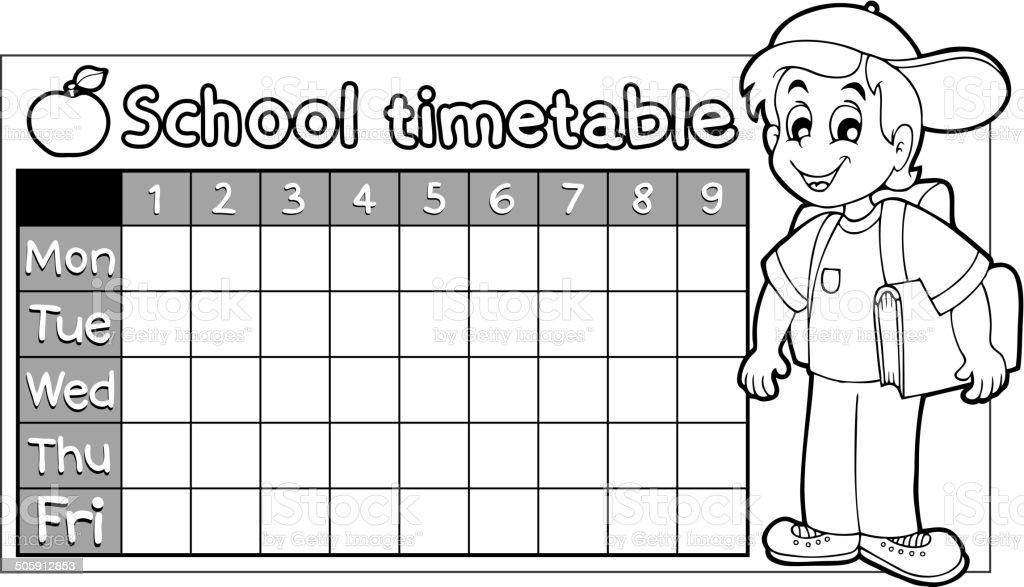 Ilustración de Libro Para Colorear Escuela Calendario 9 y más banco ...