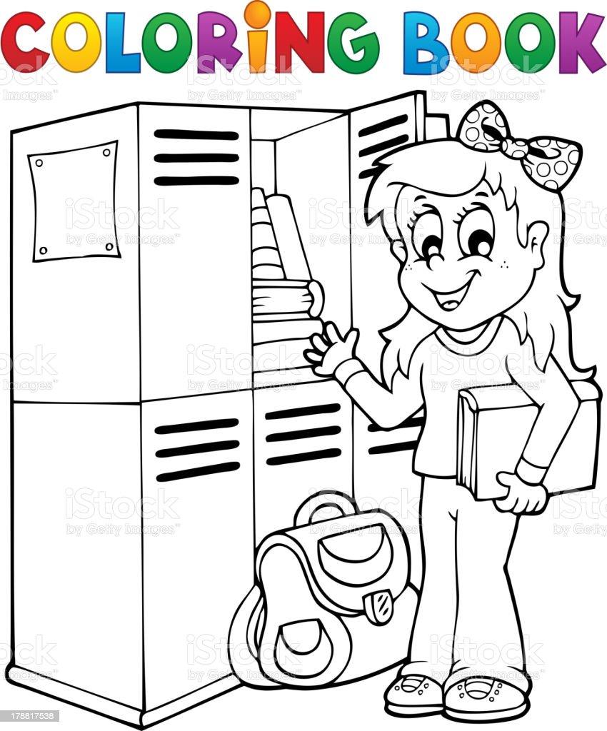 Coloring book school - Coloring Book School Topic 5 Royalty Free Stock Vector Art