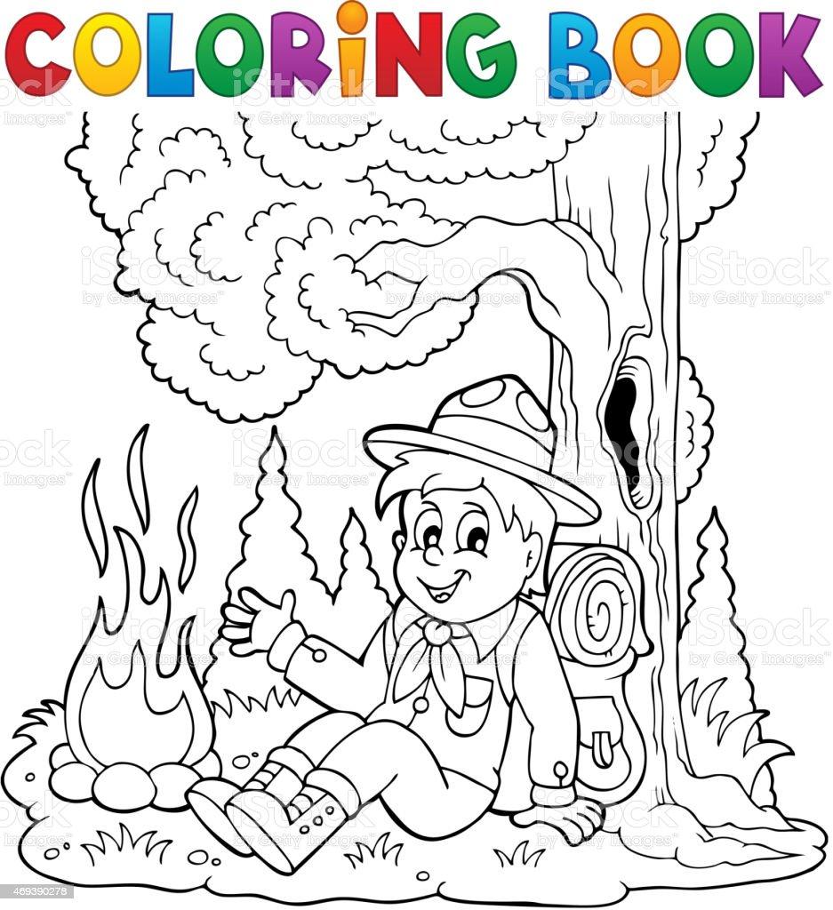 Excepcional Camping Para Colorear Para Niños Foto - Dibujos Para ...