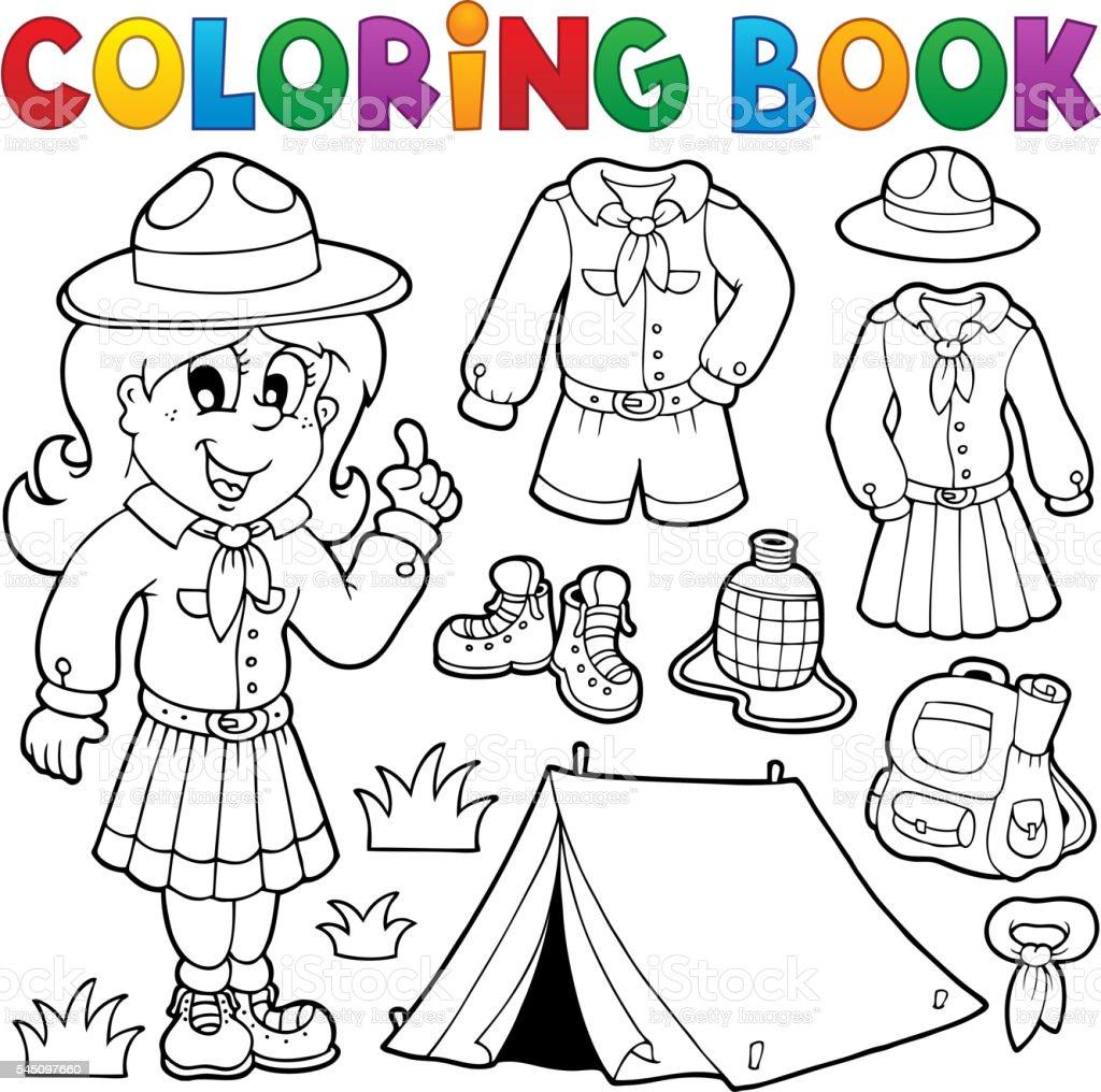 Ilustración de Libro De Colorear Temática 1 Del Explorador y más ...
