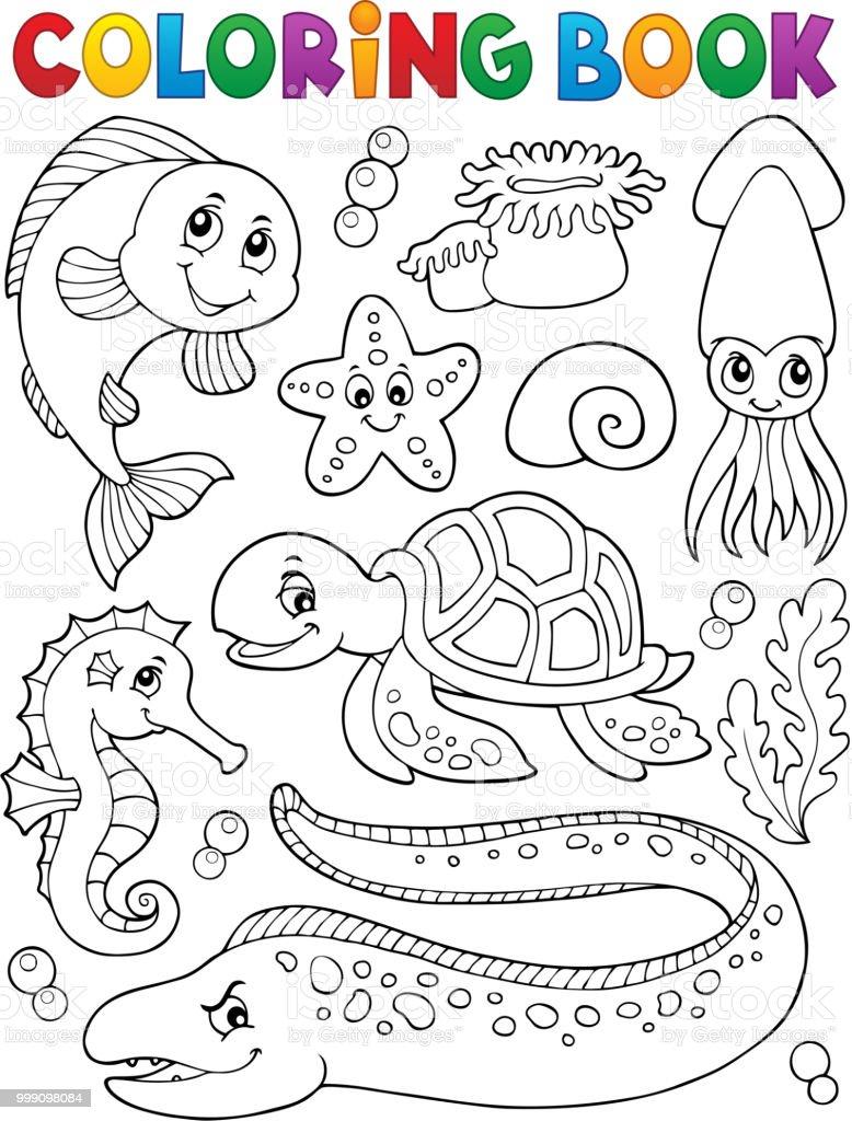 Ilustración de Colección De La Vida De Mar Para Colorear Libro 1 y ...