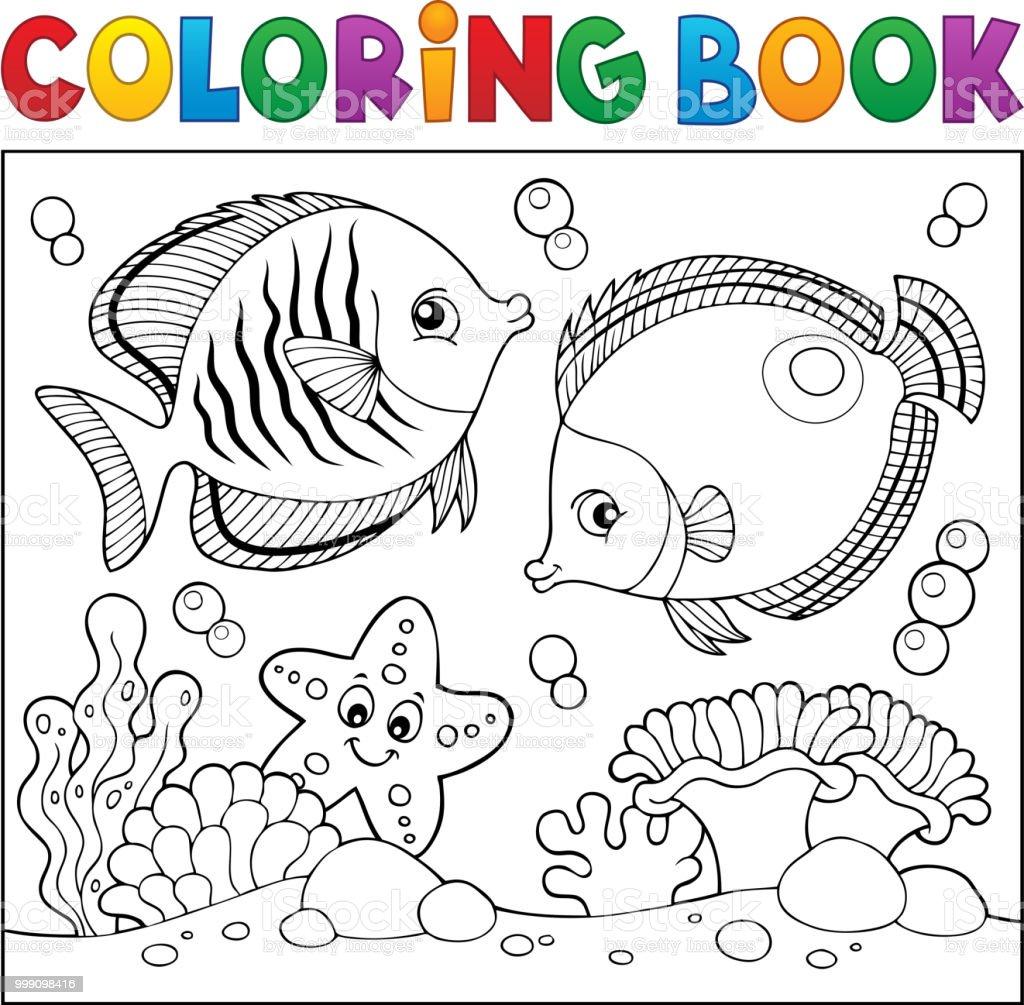 Ilustración de Tema De La Vida De Mar Para Colorear Libro 5 y más ...