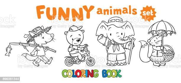 Ensemble De Livres De Droles De Bebes Animaux A Colorier Vecteurs Libres De Droits Et Plus D Images Vectorielles De 2 3 Ans Istock