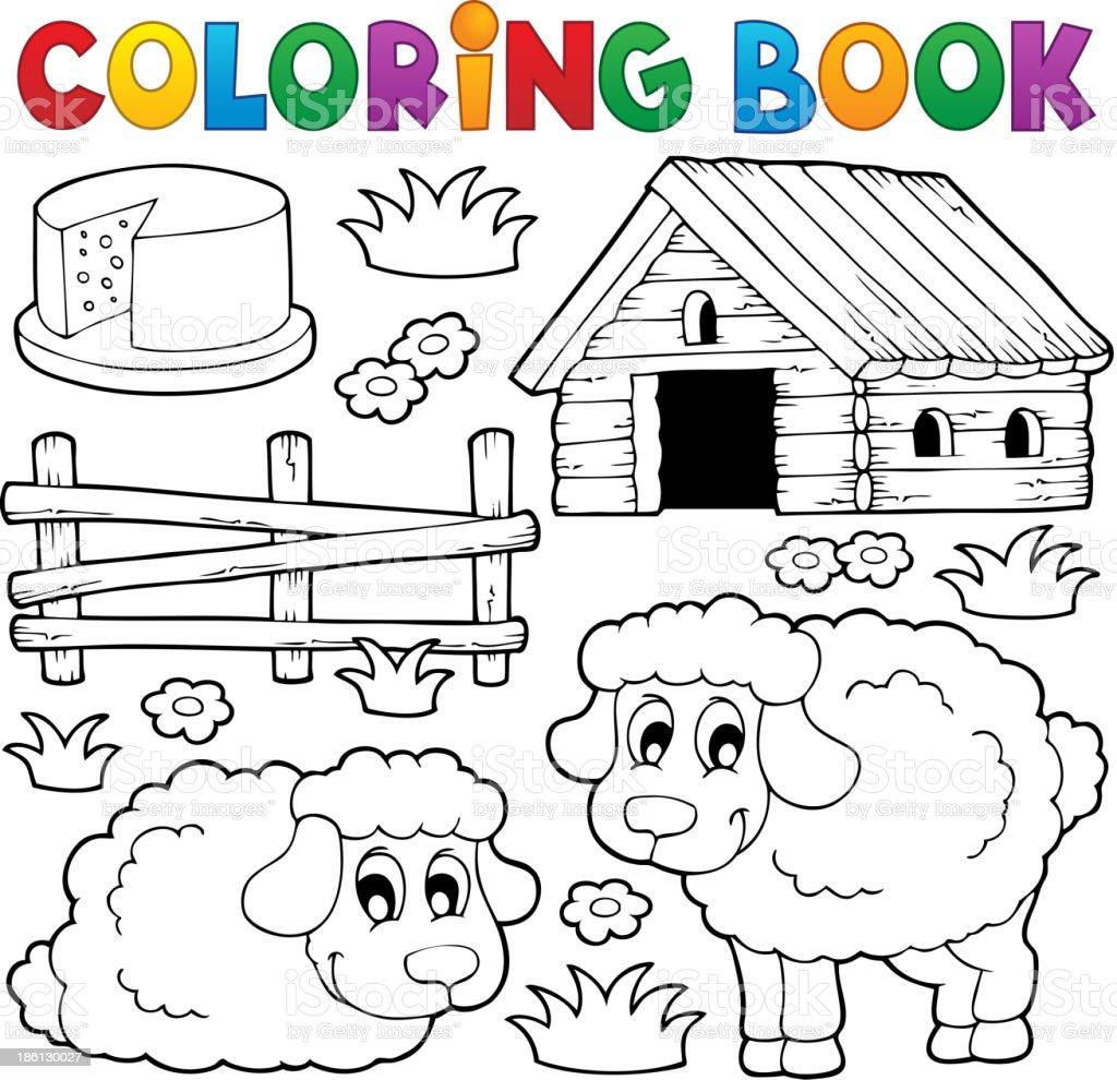 Ilustración de Libro Para Colorear Ovejas Tema 1 y más banco de ...