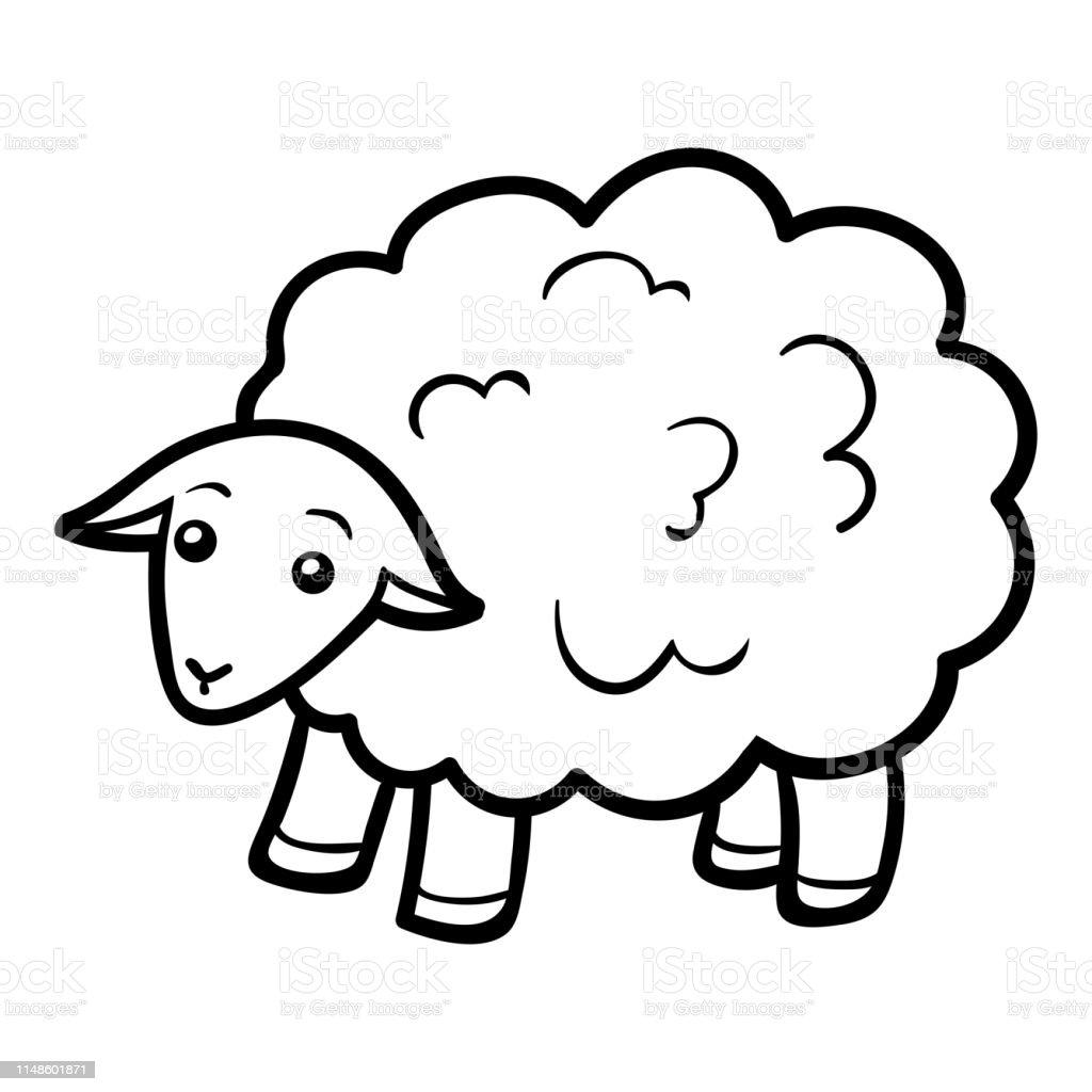 Livre De Coloriage Mouton Vecteurs Libres De Droits Et Plus D