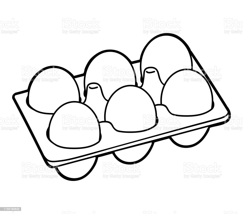 Coloring Book Six Chicken Eggs Stock Illustration - Download ...