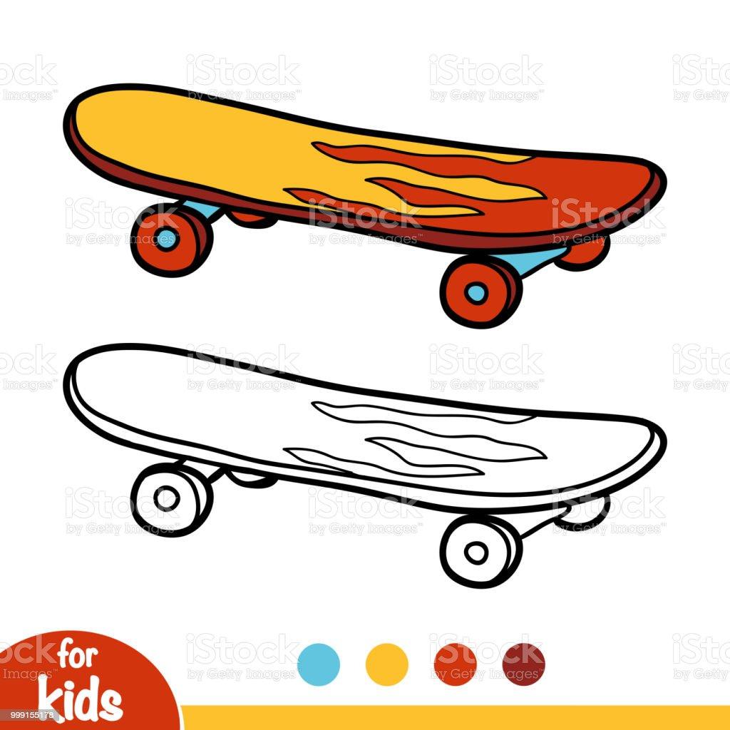 malbuch skateboard stock vektor art und mehr bilder von