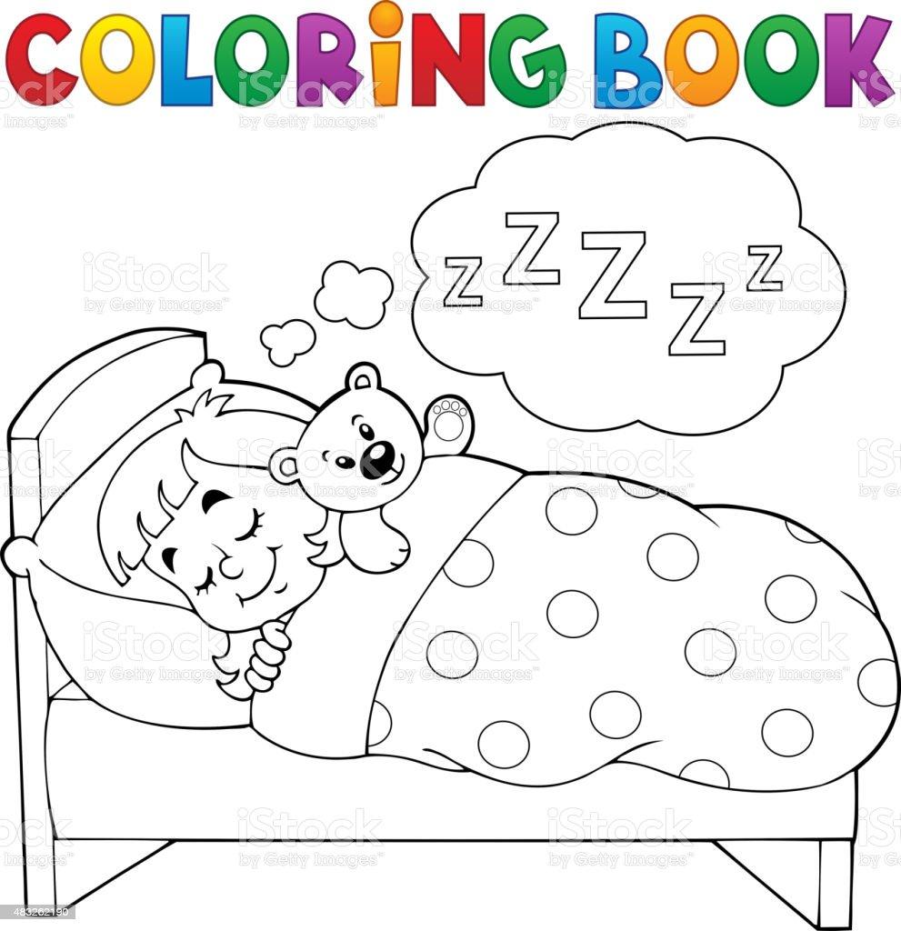 Libro Para Colorear Dormitorio Niño Tema 1 - Arte vectorial de stock ...