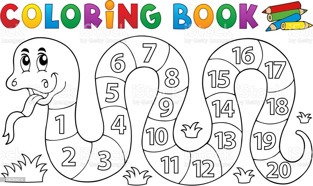 Numero 13 Para Colorear: Ilustración De Libro Para Colorear Con Los Números De