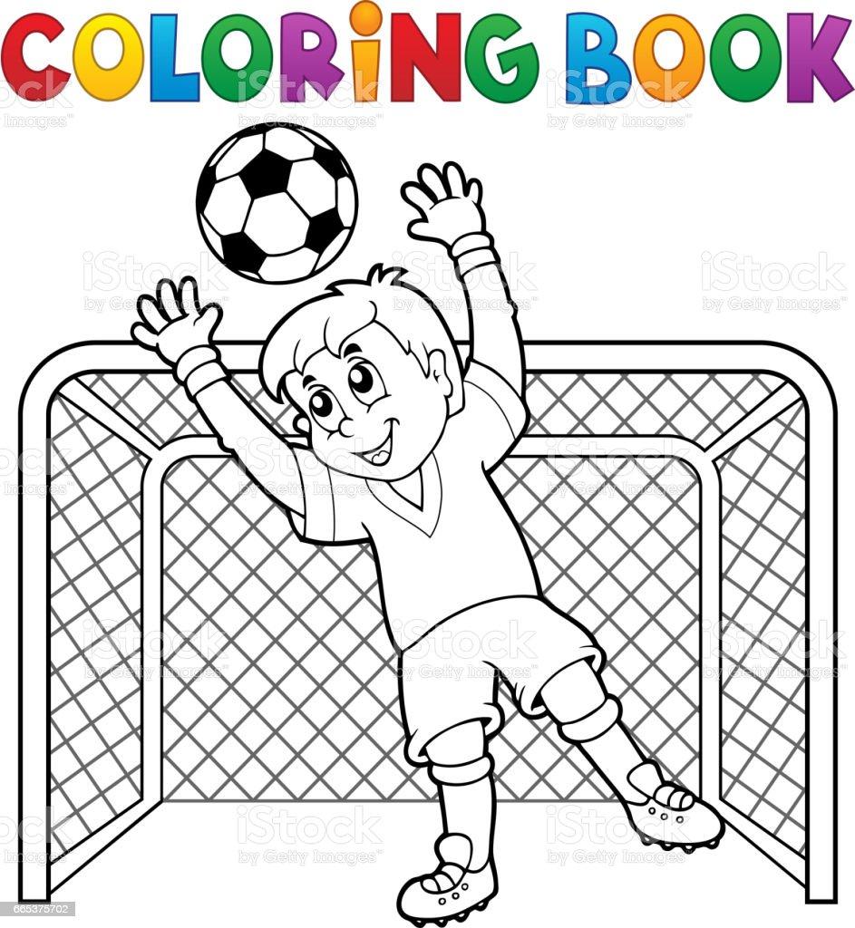 Coloriage Theme Foot.Theme De Football De Livre De Coloriage 2 Vecteurs Libres De