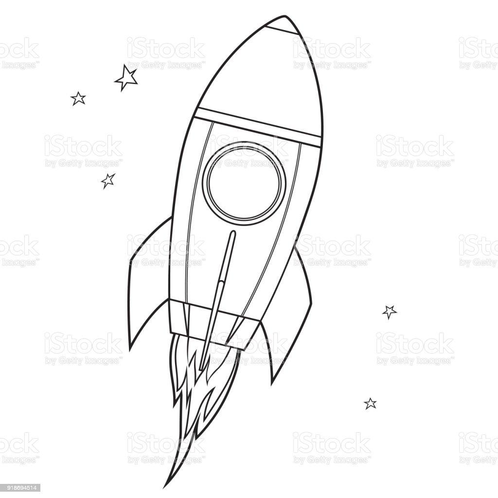 Boyama Kitabi Uzay Araci Stok Vektor Sanati Abd Nin Daha Fazla