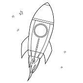 Vector Coloring Book, spacecraft