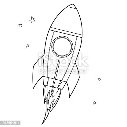 Boyama Kitabı Uzay Aracı Stok Vektör Sanatı Abdnin Daha Fazla