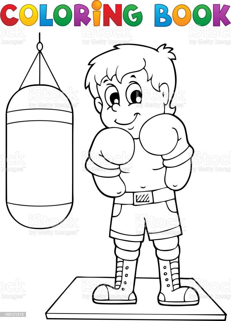 Ilustración de Libro Para Colorear De Deportes Y Gimnasio Tema 1 y ...