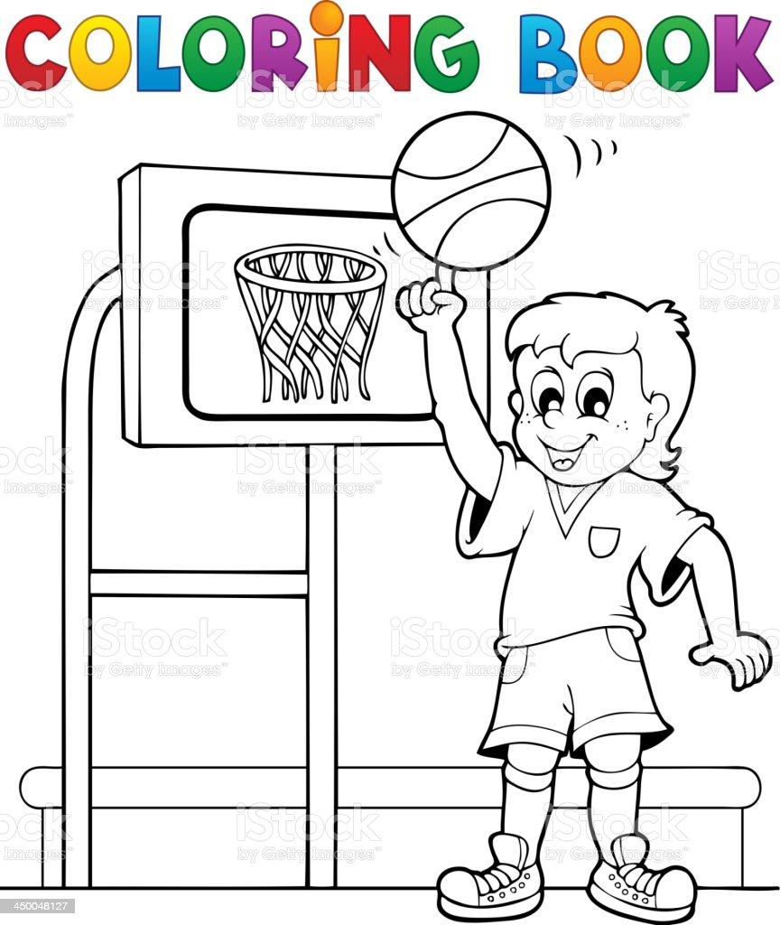 Ilustración de Libro Para Colorear Temático De Deportes Y Gimnasio 3 ...