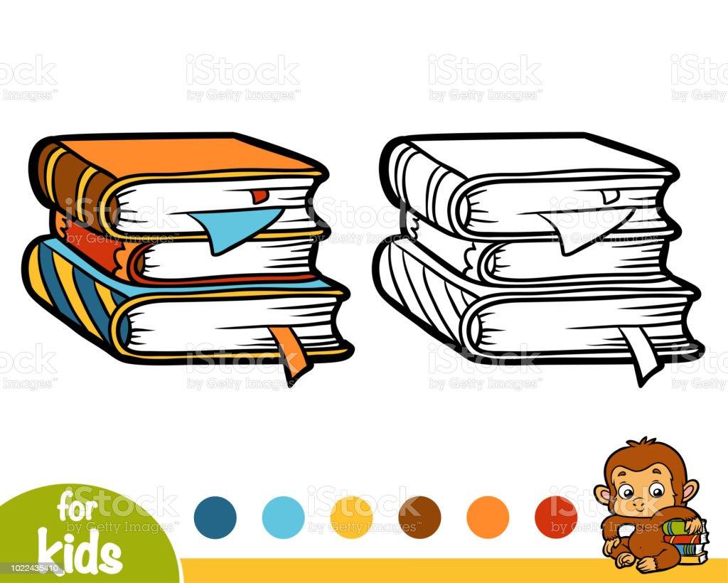 Livre De Coloriage Pile De Livres Vecteurs Libres De Droits Et
