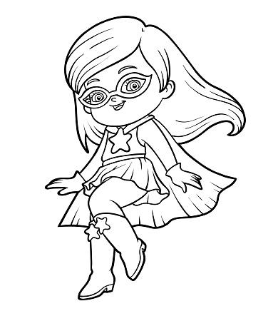 Coloring book, Super hero girl