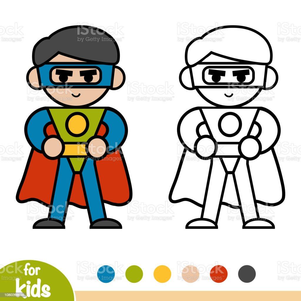 Coloring Book Superhero Stock Illustration - Download Image ...
