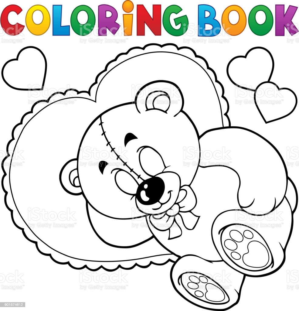 - Coloring Book Teddy Bear Theme 2 Stock Illustration - Download Image Now -  IStock