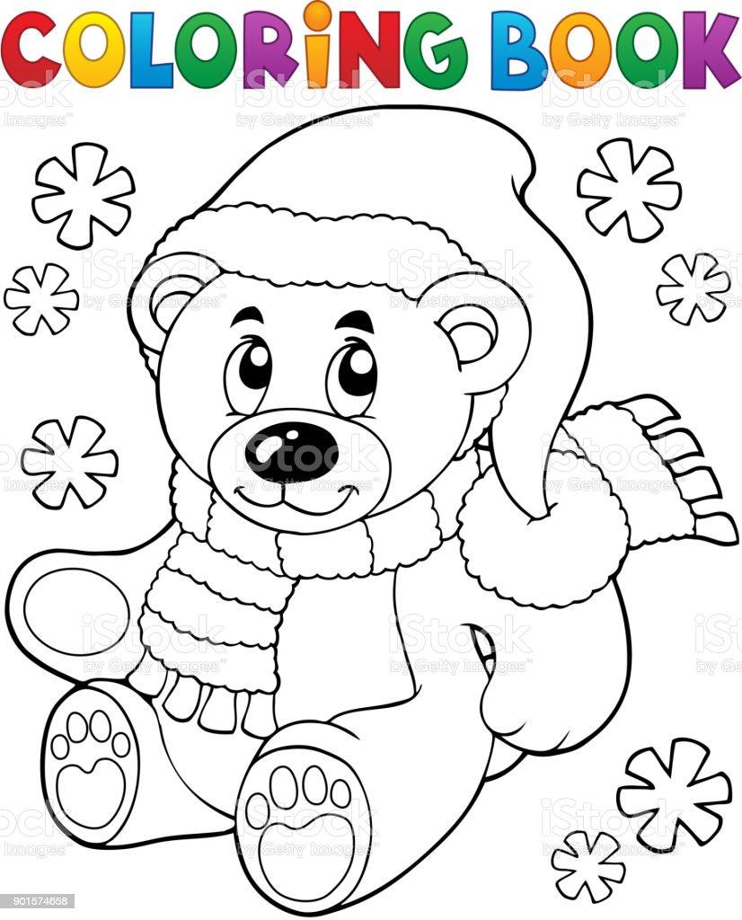 Färbung Teddybär Buchthema 3 Stock Vektor Art und mehr Bilder von ...
