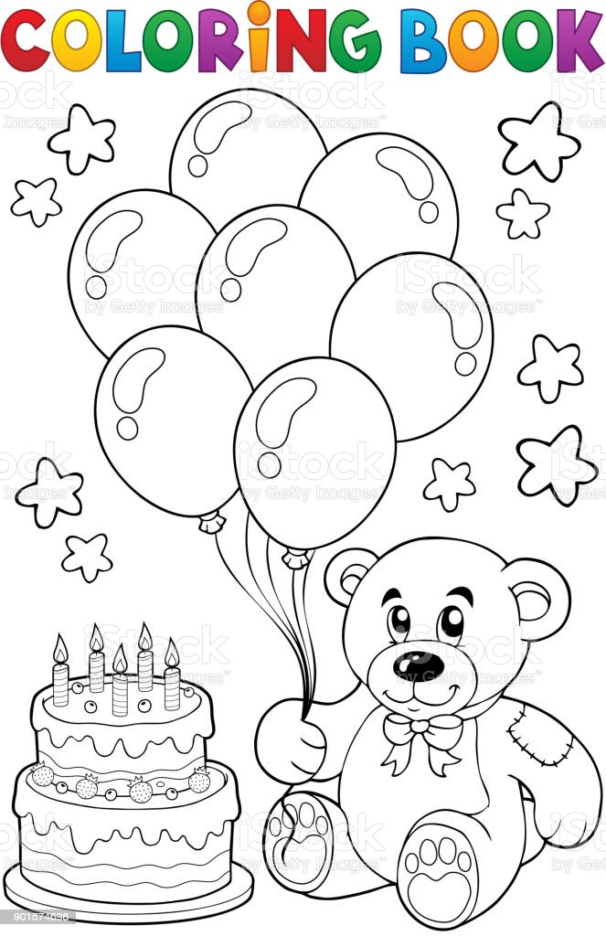 - Coloring Book Teddy Bear Theme 4 Stock Illustration - Download Image Now -  IStock
