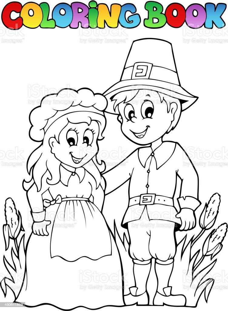 Ilustración de Libro Para Colorear Imagen 2 Del Día De Acción De ...