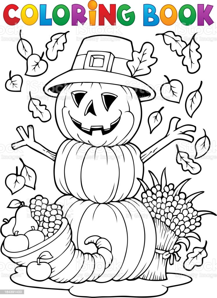 Libro Para Colorear Imagen 4 Del Día De Acción De Gracias - Arte ...
