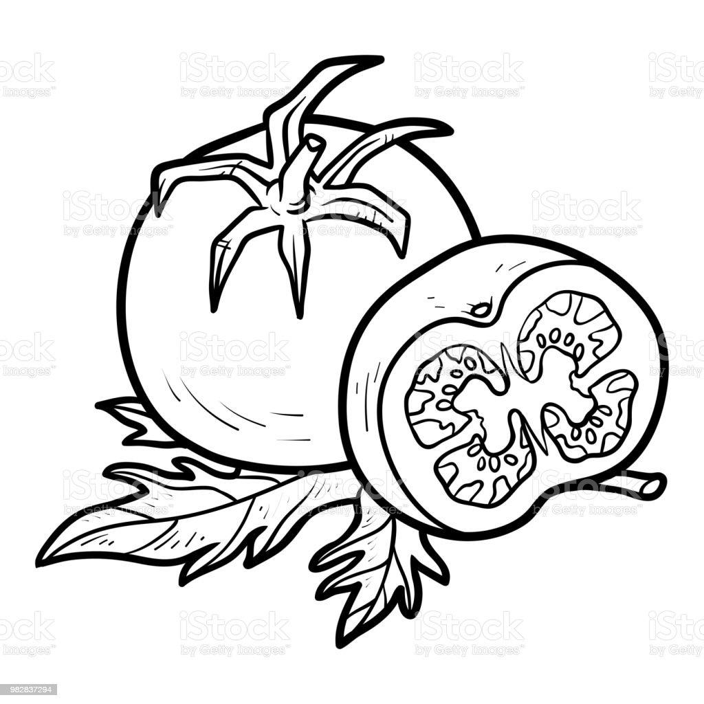 Livre De Coloriage Tomate Vecteurs Libres De Droits Et Plus