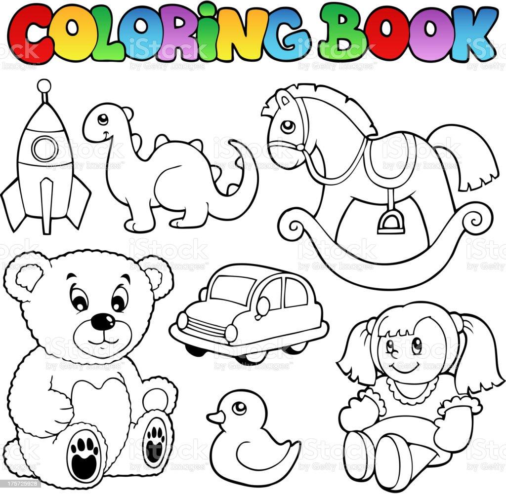 Ilustración De Libro Para Colorear Juguetes Tema 1 Y Más