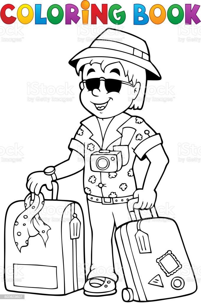 Ilustración de Libro Para Colorear Thematics De Viajes 1 y más banco ...