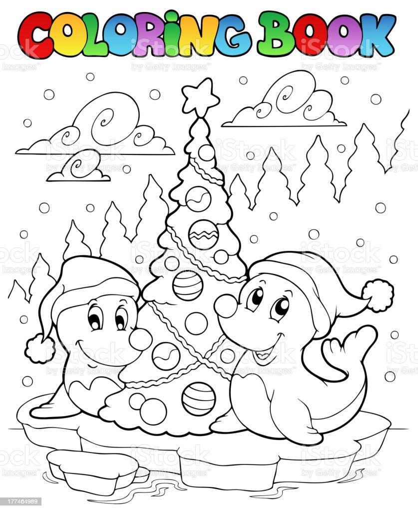 Vetores De Livro De Colorir Com Arvore Dois Focas E Mais Imagens