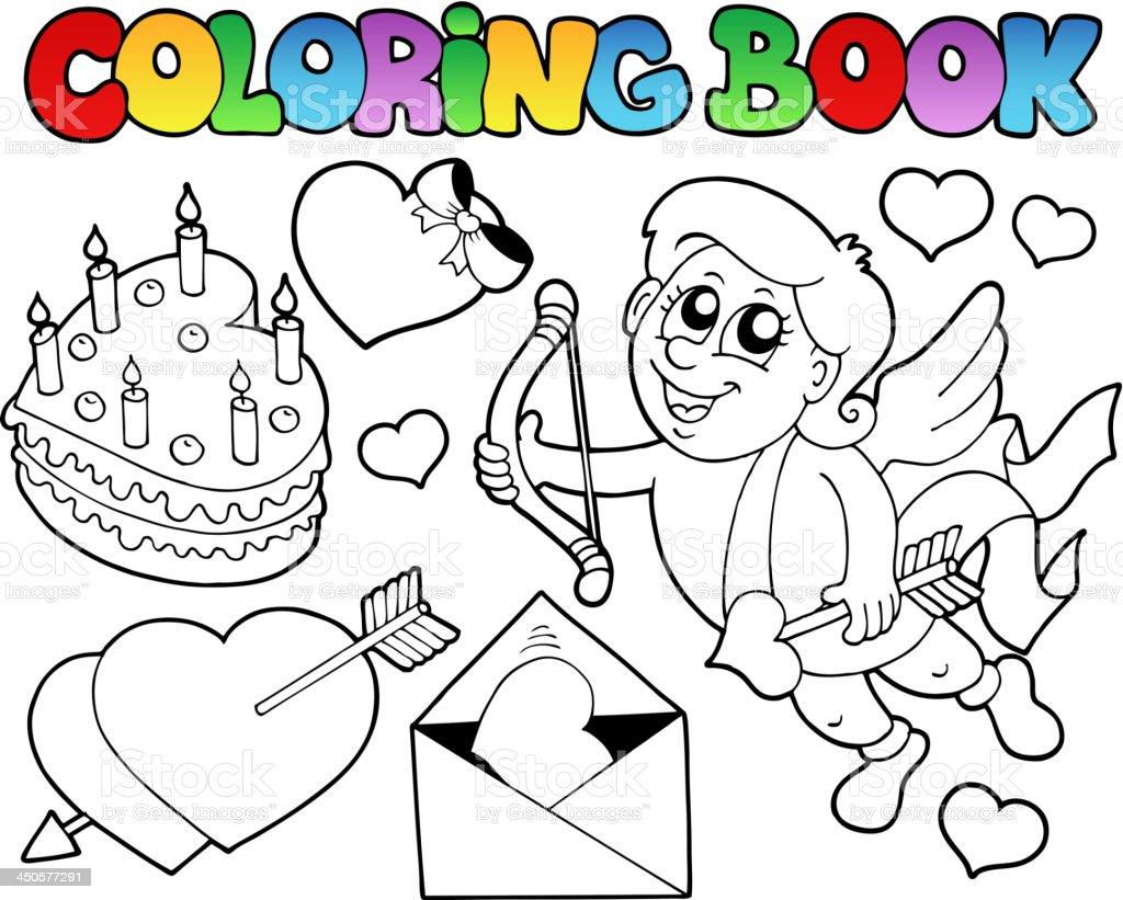 Ilustración de Libro Para Colorear Valentine Theme 4 y más banco de ...