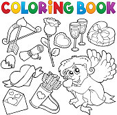 Coloring book Valentine theme 5 - eps10 vector illustration.
