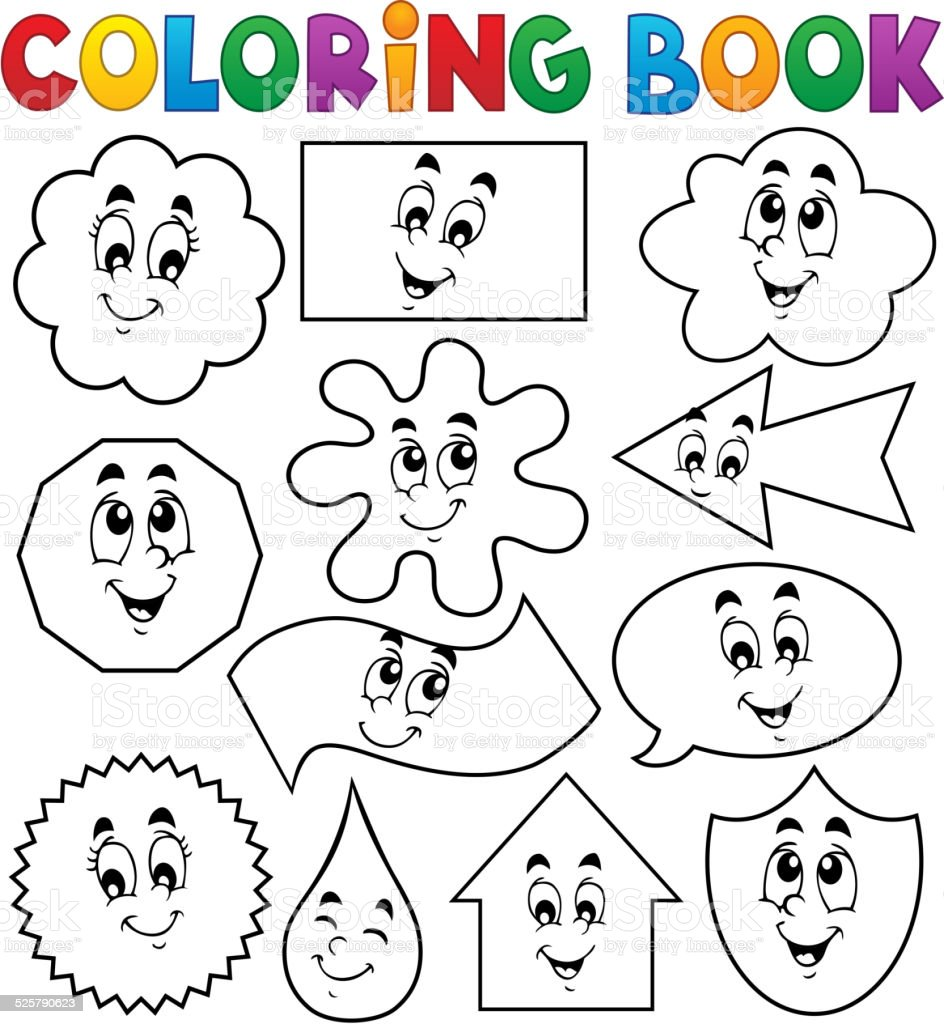 Ilustración de Libro Para Colorear Diversas Formas 2 y más banco de ...