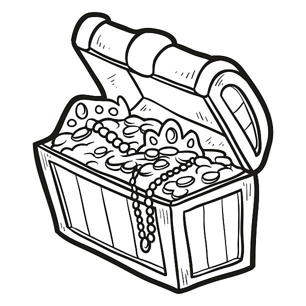 Royalty Free Treasure Chest Outline Clip Art, Vector ...