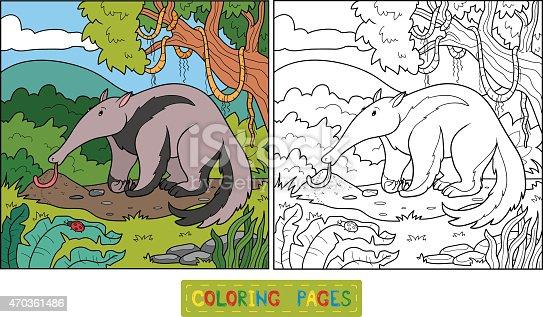 istock Libro para colorear (oso hormiguero) 467471104 istock Libro ...
