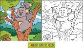 Coloring book (koala)